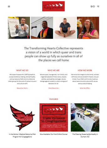 Transforming Hearts Collective home page